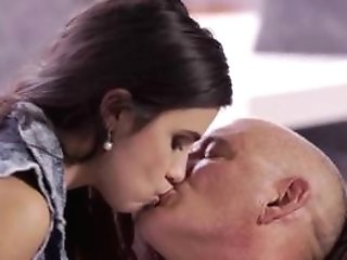 Ultra-cute Nubile Seduced And Fucked By Slick Grandfather