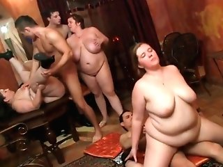 Chubby Honey Is Getting Porked During A Private Orgy And Lovin' Every Single 2nd Of It