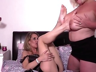 All Girl Cougar Gilf Foot Homage Four - Lacey Starr