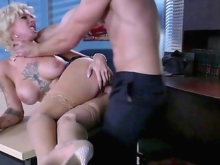 Busty Cougar Enjoys Over Time With The New Guy