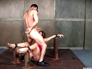 Tied Up Buxomy Mummy Dee Williams Gets Her Mouth Demolished