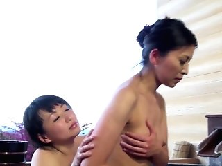 Matures Japanese Women Meet Up In A Jacuzzi For A Hump Session