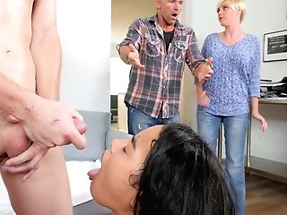 Perverted Maya Bijou Tempts Her Step Step-brother And Fucks Him Sans Grace