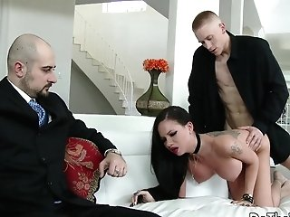 Wifey Raven Bay Pounded As Cuck Witnesses