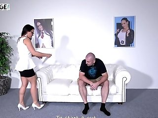 Inviting Matures With Glasses Wendy Moon Blows Two Guys On The Couch