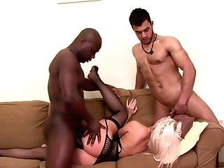 Blanche Bradburry Gets Spoke Into Screwing With Horny Black Guys