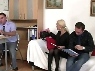She Guzzles Two Dicks For Future Work