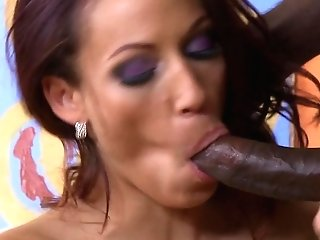 Black-haired Layla Rivera With Giant Jugs Gets Revved On Before She Takes Nathan Threat's Meat Stick In Her Anxious Mouth