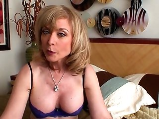 Blonde Nina Hartley Strips Down To Her Bday Suit And Plays With Herself