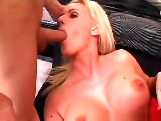 Big Tit Cheerleader Meets Two Willing Dicks To Pound Her Hard And Give A Double Penetration