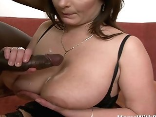All Buxomy And Horny Mom Fuck-a-thon With Big Black Weenie