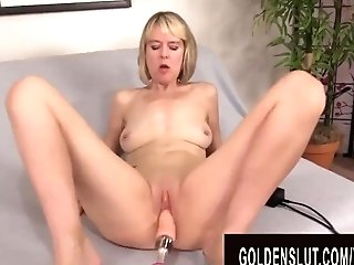Golden Bitch - Matures Women Getting Railed By Fucking Machines Compilation 1