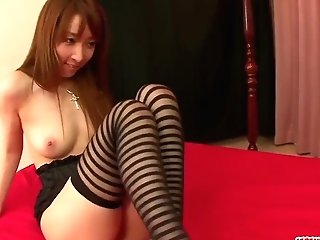 Kou Minefuji Goes Wild On Beef Whistle In Scenes Of Threesome - More At Japanesemamas.com