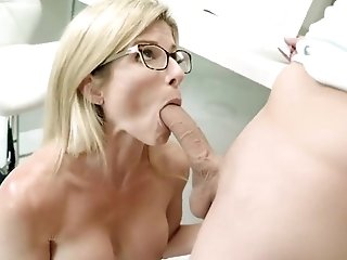 Step Mom With Big Tits Helps Step Son-in-law Examine For A Test - Cory Chase