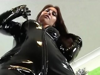 Lady In Pvc Catsuit