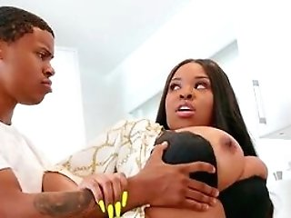 Big Butt Black Mom Leaves Youthfull Step Sonny To Drill Her Hard