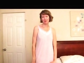 Stepmom Slips Out Of Her Slip