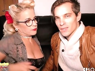Two Exotic Dudes Fuck Rectum And Snatch Of One Whorish Blonde In Glasses