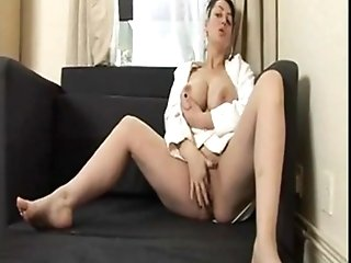 Big-chested Amazing Russian Cougar Gets Tucked By A Big Dick