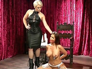Hot Sapphic Fem Dom With Helena Locke And Syren De Mer
