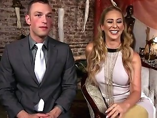 Buxomy Female Domination Cherie Deville Pegging Dude
