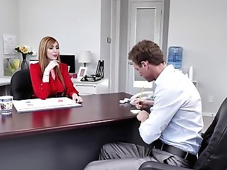 Hot Assistant Lauren Phillips Adores Orgy With Her Colleague In Her Office