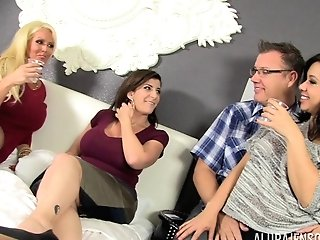 Group Lovemaking With Alura Jenson, Kimmy Lee And Sara Jay