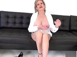 Unfaithful Brit Mummy Lady Sonia Flashes Her Oversized Tits