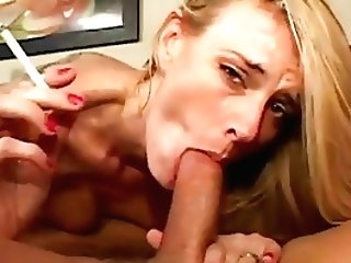 Hot Blonde Mummy Darryl Hanah Smoking Bj