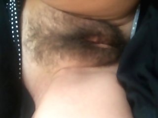Shooting A Geyser On Her Hairy Vagina Before She Goes To Work