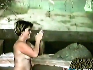 Russian Man Gets His Weenie Sucked And Gives Quickie Fuck To Her Neighbor Dame