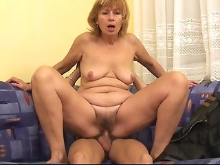 Matures Blonde Granny Luvs Youthful Shaft