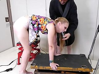 Spanked By Machine While Getting Face Fucked And Made To Eat Butt