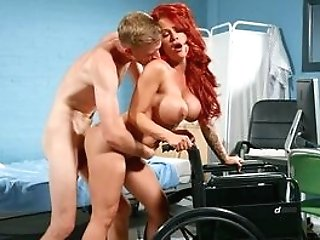 Ginger-haired Jiggles Tits And Screams While Railing The Big Dick