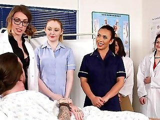 Excited Nurses In The Hospital Ready For A One Time Cfnm Orgy