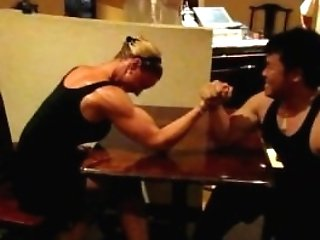 Armwrestling Too Bad She Lose 2