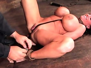 Lisa Lipps In There Are Big Tits And Then There Is Massivewelcome Lisa Lipps To Her First-ever Restraint Bondage Scene Ever. - Frogtied