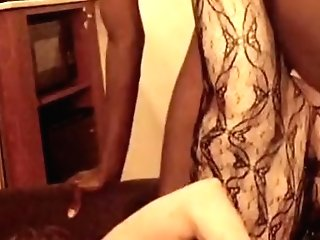 Cheating Wifey Hard Orgasm With Large Black Boner Up Her