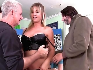 Matures Skyler Haven Gang-bang Double Penetration N Facial Cumshot