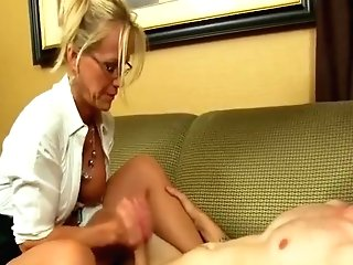 Spex Cougar Wanking Man Sausage In Cfnm Activity