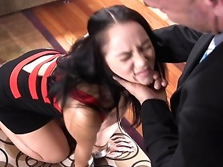 Matures Stunner Kristina Rose Bum-fucked With A Ball Gag In Her Mouth
