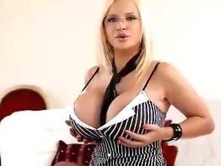 Big Titty Seductress: Blonde Beauty Begs For Cock
