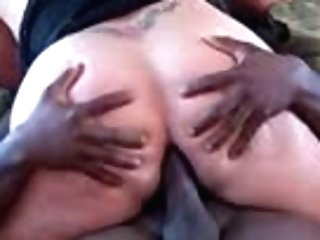 Squeezing My Big Black Cock In Her Donk(rectal)