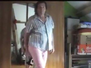Dame Matures Big Huge-boobed Nylon Pantyhose Handballing Rectal Sextoy 8