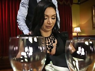 Ardent Dark Haired Lea Lexis Is Fucked By Cooker And Waiters In A Restaurant