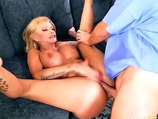 Joslyn James Fucks An Orderly With Her Spouse In The Other Room