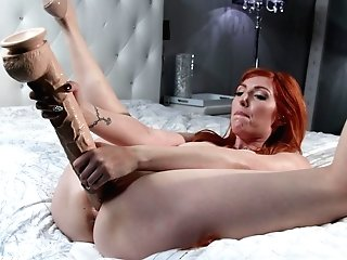 The Thickest Faux-cock Ever And A Finger On Her Clittie Can Please Lauren Phillips