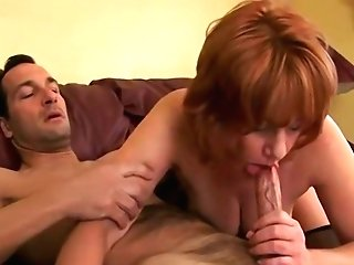 Naturally Chesty Red-haired Mummy Gets Plowed Hard