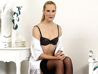 Sexy Housewife In Sexy Underwear And Stockings Ariel Anderssen Tells Bedtime Stories