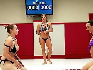 Strapon Activity For Lady Wrestlers Bella Rossi And Wenona